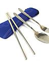 Открытый 3-единиц Набор посуды (сумка цвет ассорти)