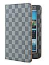 삼성 Galaxy tab2 p3100에 대한 스탠드와 격자 무늬 보호 PU 케이스