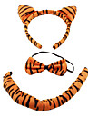 peluche 3-en-1 belle tigre Casques bandeau + noeud papillon + de costume queue pour halloween mascarade