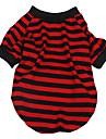 Британский стиль полоса футболки для собак (XS-XL, случайные цвета)