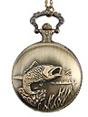 Unisex Fish Alloy Analog Quartz Pocket Watch (Bronze) Cool Watch Unique Watch Fashion Watch