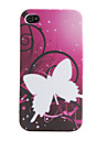 Caso borboleta Padrão macio para iPhone 4 e 4S