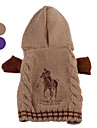 Dog Sweater / Hoodie Brown / Purple Winter Classic