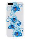 синий цветочный узор мягкий чехол для iphone 5/5s