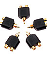 1 x Gold plated RCA male to 2 Female Adapter