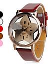 Женские Модные часы Кварцевый PU Группа Черный Белый Красный Коричневый Розовый