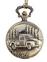 Masculino Relógio de Bolso Quartzo Lega Banda Bronze Dourado