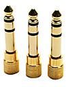 1 x 6.35 masculin à 3,5 adaptateur femelle plaqué or