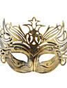 Meia máscara Vintage Coroado para o Halloween Masquerade Party