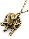 cobre antiguo hueco de salida elefante collar