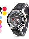 Очаровательный унисекс резиновые аналоговые кварцевые наручные часы (разных цветов)