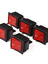 4-контактный Клавишные переключатели с красным индикатором (5-Piece Pack)