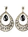 Drop Earrings Resin Copper Alloy Drop Black Jewelry Party