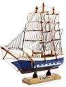 20x20cm vela decoração de madeira barco de mesa