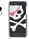 cabeça de esqueleto estojo rígido padrão para o iphone 5/5s (cores sortidas)