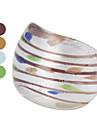 cromática tarja anel de esmalte colorido