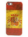 caso retro estilo español patrón de la bandera duro para el iphone 5/5s