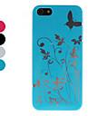 borboleta e flor padrão caso duro para o iphone 5/5s (cores sortidas)