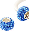 Simple Style Pure Color Rhinestone Beads With Fine Silver Inner Tube