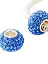 simples pur style perles strass couleur avec beau tube interne en argent