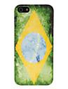 Retro Brazilian Flag Pattern Hard Case for iPhone 5/5S