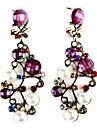 Earring Drop Earrings Jewelry Women Party Alloy / Resin / Copper Purple