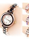 Женские Модные часы Часы-браслет Кварцевый сплав Группа Черный Белый Розовый Фиолетовый