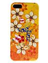 linda borboleta e flor padrão caso duro para o iphone 5/5s