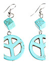 Peace Symbol Turquoise Earrings