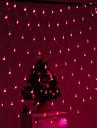 Festival Decoration 120-LED 8-Mode Pink Light Net Lamps for Party Garden Fence (220V)