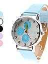 femmes de style cercle pu analogique poignet la montre à quartz (couleurs assorties)