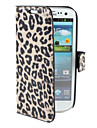 Custodia leopardata, in PU, con supporto per Samsung Galaxy S3 I9300 - Colori assortiti