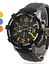 V6® Men's Racing Style Hard Case Black Silicone Band Quartz Wrist Watch (Assorted Colors) Cool Watch Unique Watch Fashion Watch