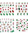4PCS Natal 3D de plástico Twinkle prego Appliques arte decorativa