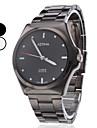 남성용 손목 시계 석영 일본 쿼츠 캐쥬얼 시계 스테인레스 스틸 밴드 블랙