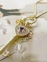 Женский Ожерелья с подвесками Кристалл Сплав В форме сердца Сердце Золотой Серебряный Бижутерия