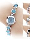 coeur en cristal d'alliage de modèle à quartz analogique bracelet de montre des femmes (couleurs assorties)