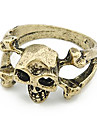 Skull And Bones Alloy Ring