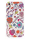 Capa Rígida com Padrão Floral para iPhone 5 and 5S