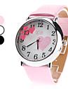 여성의 석영 아날로그 하트 무늬 다이얼 우레탄 밴드 손목 시계 (분류 된 색깔)
