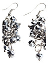 Grey Grape Shape Crystal Earrings