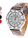 여성의 석영 아날로그 화이트 다이얼 PU 밴드 손목 시계 (분류 된 색깔)
