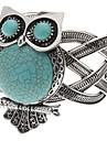 graisse et logie hibou motif argent tibétain bracelet turquoise