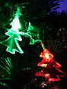 7M 30-LED Natal Luz-Árvore-Shaped LED colorido Faixa Lâmpada de fadas para Decoração Festival (220V)