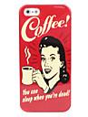 mulher e caso difícil de café para o iphone 5/5s