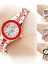 Женские Модные часы Часы-браслет Кварцевый Позолоченное розовым золотом Группа Элегантные часы Черный Белый Красный Коричневый Розовый