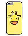 Cartoon Giraffe Pattern Frosted Surface Hard Case for iPhone 5/5S
