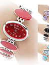 Women's Quartz Analog Oval Dial Alloy Band Bracelet Watch (Assorted Colors) Cool Watches Unique Watches Strap Watch