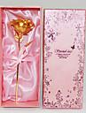 Rose en Or 24 Carat pour le Jour de la Saint-Valentin, Anniversaire de Mariage, Anniversaire et Noël (Taille Sélectionnable)