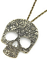 Punk Pattern Skull Long Necklace